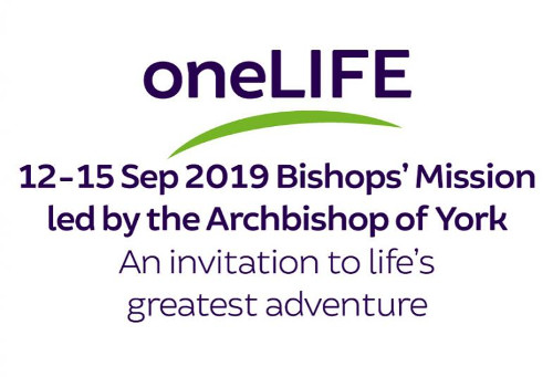 oneLife Bishop's Mission 12 to 15 September 2019 - an invitation to life's greatest adventure